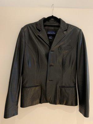 Polo Ralph Lauren Leather Blazer black leather