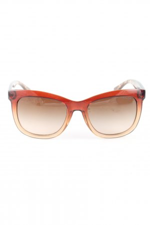 Ralph Lauren Retro Brille rot-creme Casual-Look