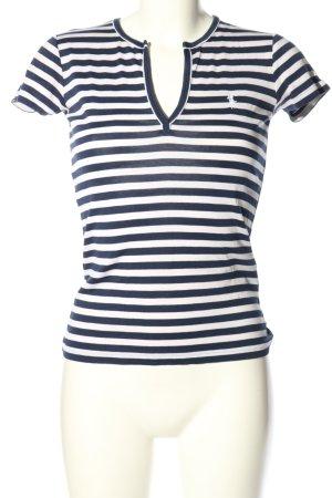 Ralph Lauren Koszulka w paski biały-niebieski Na całej powierzchni