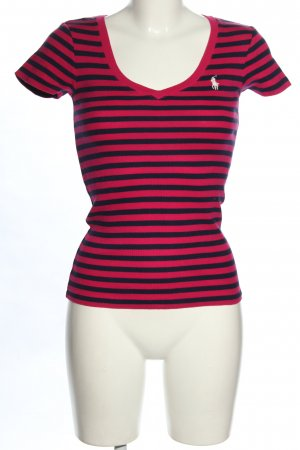Ralph Lauren Ringelshirt blau-rot Streifenmuster Casual-Look