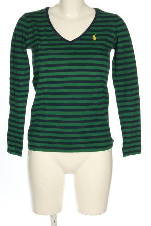 Ralph Lauren Ringelshirt blau-grün Streifenmuster Casual-Look