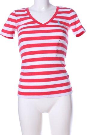 Ralph Lauren Stripe Shirt red-white striped pattern casual look