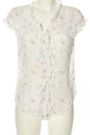Ralph Lauren Rüschen-Bluse weiß-pink Allover-Druck Casual-Look