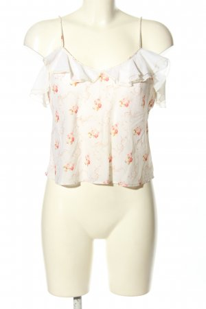 Ralph Lauren Frill Top white-red allover print casual look