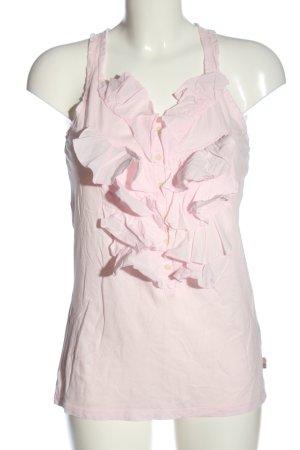 Ralph Lauren Frill Top pink casual look