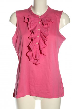Ralph Lauren Top de volantes rosa look casual