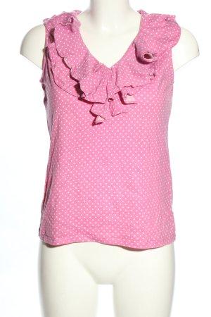 Ralph Lauren Rüschentop pink-weiß Allover-Druck Casual-Look
