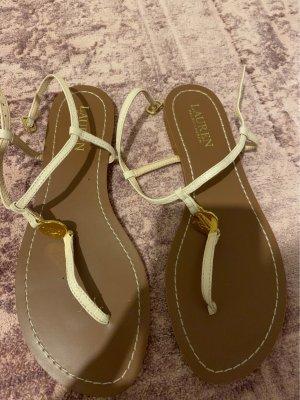 Ralph Lauren Flip-Flop Sandals gold-colored-pink
