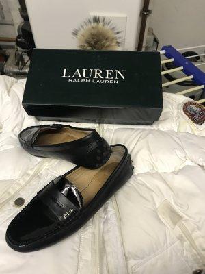 Polo Ralph Lauren Babouche noir cuir