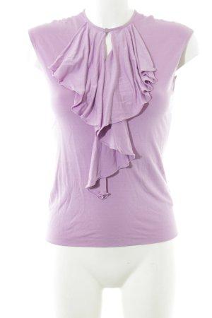 Ralph Lauren Top col bénitier rose style d'affaires soie