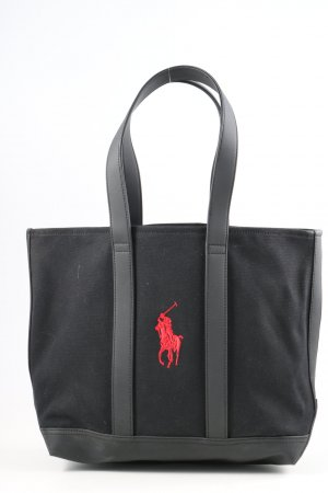 Ralph Lauren Shopper zwart-rood casual uitstraling