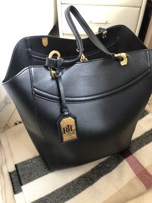 Ralph Lauren Shopper noir-doré