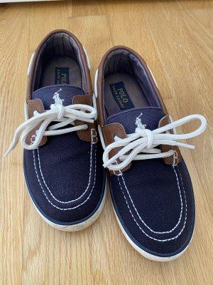 Polo Ralph Lauren Sailing Shoes white-dark blue