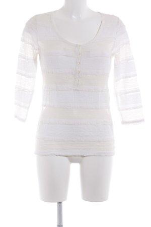 Ralph Lauren Blusa de encaje blanco puro-beige claro look casual