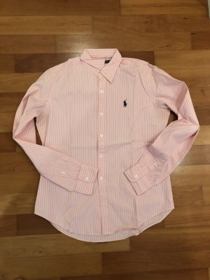 Ralph Lauren Sport Long Sleeve Blouse pink-white cotton