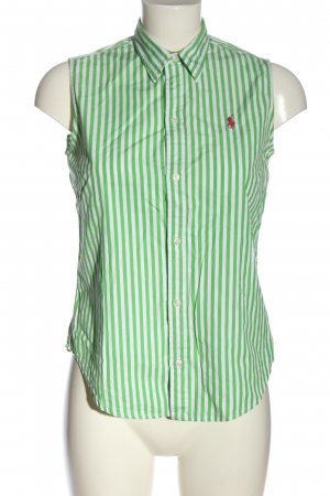 Ralph Lauren Sport Blusentop grün-weiß Streifenmuster Casual-Look