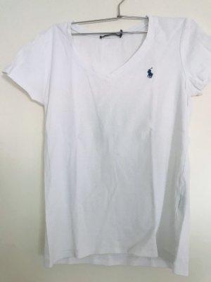 Ralph Lauren Sport T-shirt col en V blanc