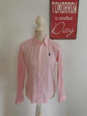 Ralph Lauren Sport Damen Bluse Hemdbluse rose weiß gestreift Größe 6