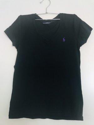 Ralph Lauren Sport T-shirt col en V noir
