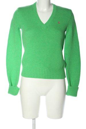 Ralph Lauren Sport Crochet Sweater green casual look