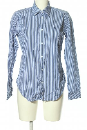 Ralph Lauren Sport Hemd-Bluse blau-weiß Allover-Druck Business-Look
