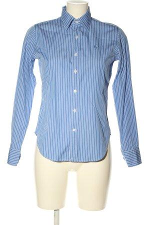 Ralph Lauren Sport Hemd-Bluse blau-weiß Allover-Druck Casual-Look
