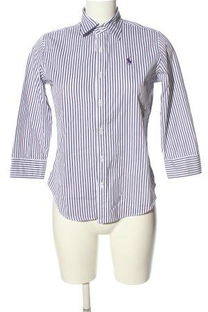 Ralph Lauren Sport Hemd-Bluse lila-weiß Streifenmuster Casual-Look