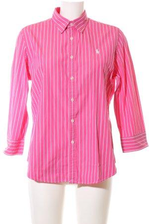 Ralph Lauren Sport Hemd-Bluse pink-weiß Streifenmuster Business-Look