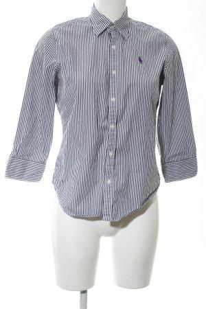 Ralph Lauren Sport Hemd-Bluse blau-weiß Streifenmuster Business-Look
