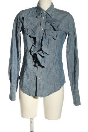 Ralph Lauren Sport Chemise en jean bleu moucheté style d'affaires