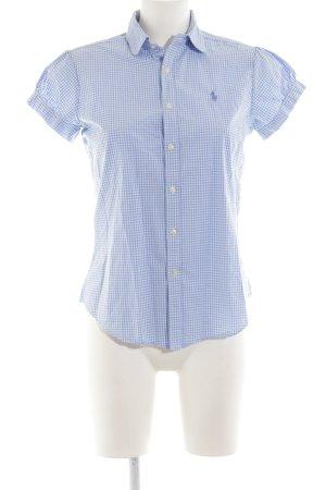 Ralph Lauren Sport Kurzarm-Bluse blau Karomuster klassischer Stil