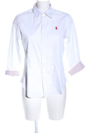 Ralph Lauren Sport Short Sleeve Shirt white-pink embroidered lettering