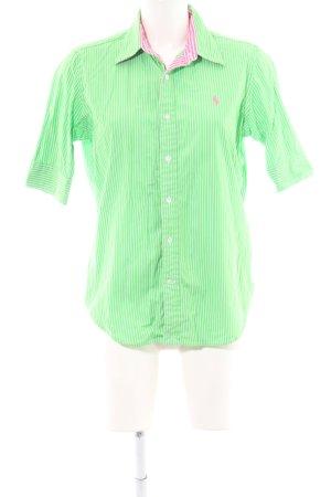 Ralph Lauren Sport Kurzarmhemd grün-weiß Streifenmuster Casual-Look