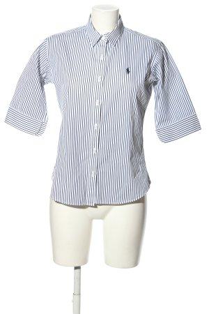 Ralph Lauren Sport Camisa de manga corta blanco-azul estampado a rayas