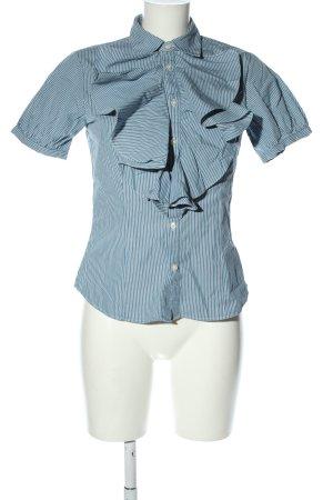 Ralph Lauren Sport Kurzarmhemd blau-weiß Streifenmuster Casual-Look