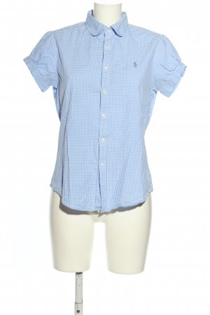 Ralph Lauren Sport Kurzarmhemd blau-weiß Allover-Druck Casual-Look