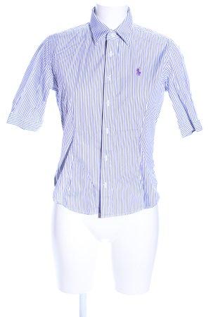 Ralph Lauren Sport Short Sleeve Shirt lilac-white striped pattern business style