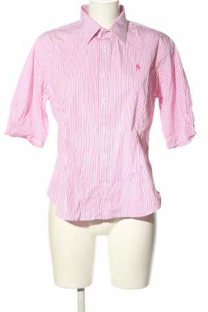 Ralph Lauren Sport Camisa de manga corta rosa-blanco estampado a rayas