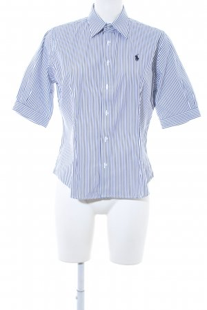 Ralph Lauren Sport Camicia a maniche corte blu scuro-bianco motivo a righe