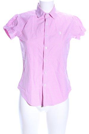 Ralph Lauren Sport Short Sleeve Shirt pink-white check pattern business style