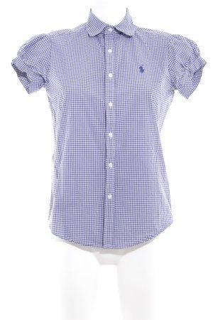 Ralph Lauren Sport Short Sleeve Shirt white-blue check pattern casual look