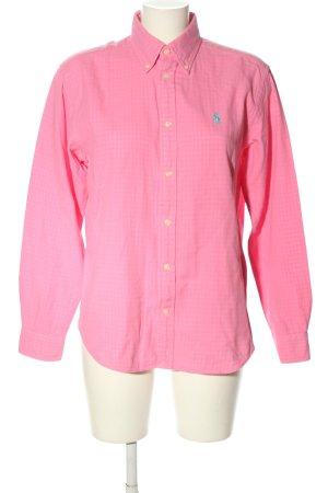 Ralph Lauren Sport Langarm-Bluse pink-türkis Casual-Look