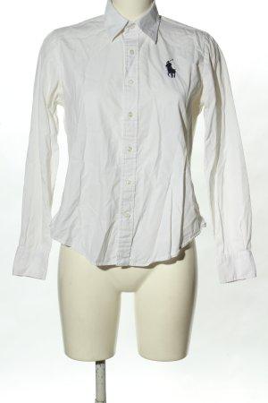 Ralph Lauren Sport Langarmhemd weiß-schwarz Casual-Look