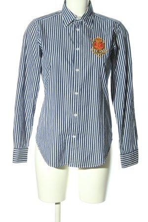 Ralph Lauren Sport Langarmhemd blau-weiß Streifenmuster Casual-Look