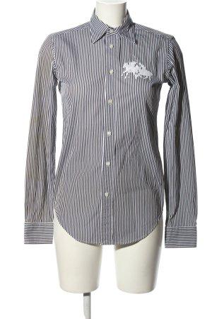 Ralph Lauren Sport Langarmhemd schwarz-weiß Schriftzug gestickt Casual-Look