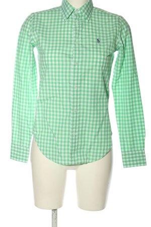 Ralph Lauren Sport Langarmhemd grün-weiß Allover-Druck Casual-Look