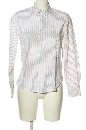 Ralph Lauren Sport Langarmhemd weiß-braun Streifenmuster Casual-Look