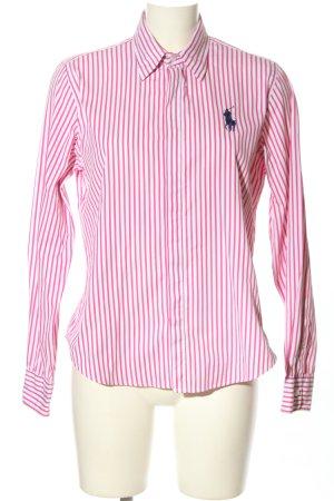 Ralph Lauren Sport Langarmhemd pink-weiß Allover-Druck Casual-Look