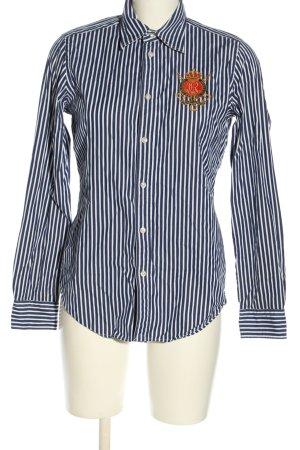 Ralph Lauren Sport Langarmhemd schwarz-weiß Streifenmuster Business-Look