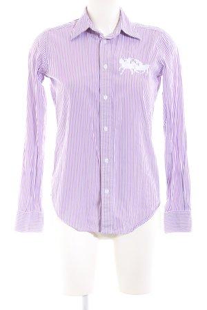 Ralph Lauren Sport Langarmhemd lila-weiß Streifenmuster Casual-Look